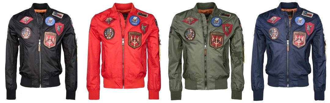 Bomber Jacket Top Gun® BEAST in den Farben schwarz, rot,oliv und navy