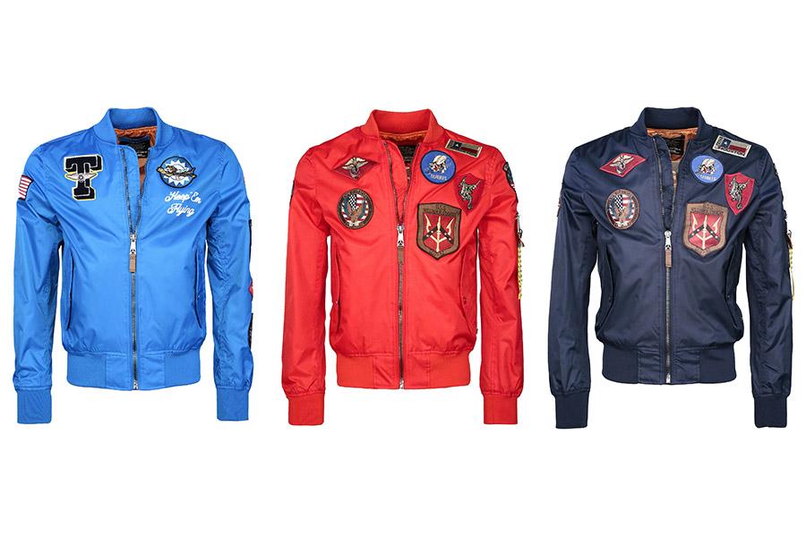 hellblaue Top Gun® Jacke wie bei Pietro Lombardi | Top Gun